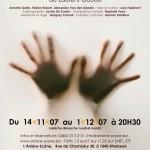 Affiche du spectacle Cendres sur les mains