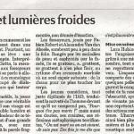 Critique par la Libre Belgique de Cendres sur les mains.