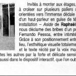 """Reportage paru dans """"Les Cahiers de l'Acme"""""""